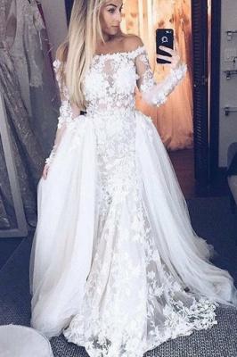 Off-The-Shoulder A-Line Wedding Dresses | Bridal Lace Appliques Dresses For Wedding_1
