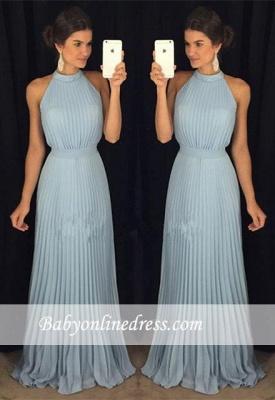 Sexy Halter Sleeveless Prom Dress Long Floor-Length Evening Gowns_3