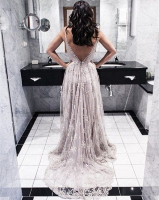 Long Open Back Lace Spaghettis-Straps Sexy Prom Dresses_4