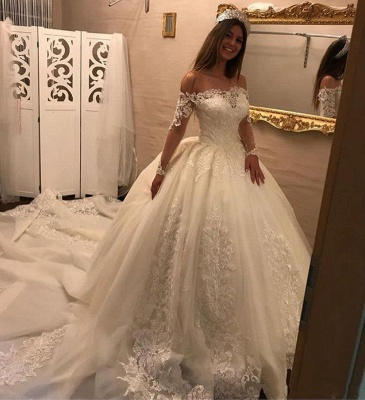 Gorgeous Ball Gown Wedding Dresses | Off-the-Shoulder Bridal Gowns_3