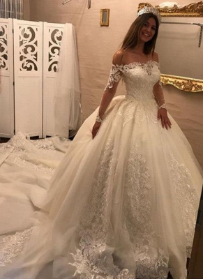 Gorgeous Ball Gown Wedding Dresses | Off-the-Shoulder Bridal Gowns_1