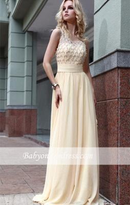 Jewel Zipper A-line Sleeveless Chiffon Prom Dress with Beadings_4