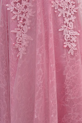 Pink A-Line Homecoming Dresses | Lace Tulle Mini Prom Dresses_10