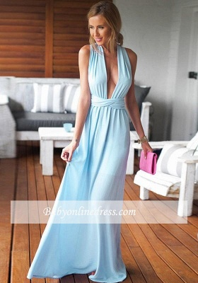 Long Floor-Length Beautiful Criss-Cross Sleeveless Prom Dress_4