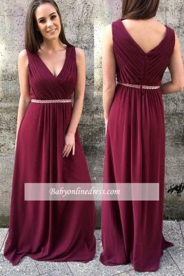 A-line Modern Beads Zipper Sleeveless Straps Prom Dress_1