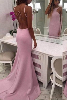 Chic Crew Sleeveless Sweep-train Chiffon Mermaid Prom Dresses_1