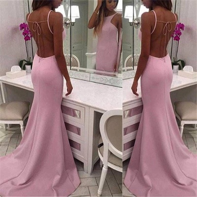 Chic Crew Sleeveless Sweep-train Chiffon Mermaid Prom Dresses_3