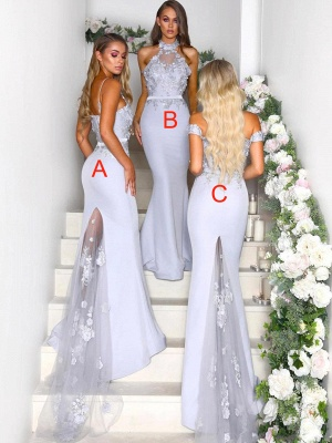 Elegant Mermaid Bridesmaid Dresses | Lace Appliques Maid Of The Bride Dresses_3