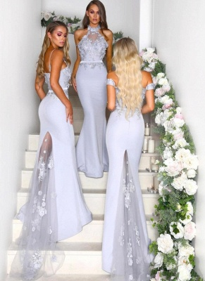 Elegant Mermaid Bridesmaid Dresses | Lace Appliques Maid Of The Bride Dresses_4