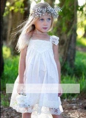 Crisscross Cute Flower Capped-Sleeves Back Girls Dresses_1
