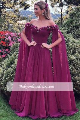 Gorgeous Sweetheart Long Ruffles Formal Chiffon Evening Gowns_4