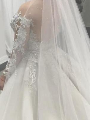 Elegant Lace Appliques Tulle Overskirt Mermaid Wedding Dresses_4