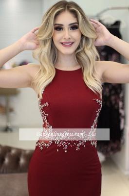Beading Sleeveless Burgundy Mermaid Scoop Elegant Prom dresses_3