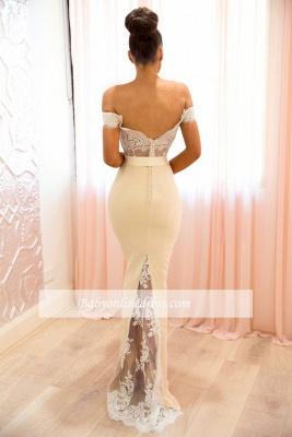Elegant Off-the-shoulder Bridesmaid Dresses | Lace Mermaid Evening Dresses_1