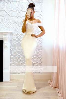 Elegant Off-the-shoulder Bridesmaid Dresses | Lace Mermaid Evening Dresses_3