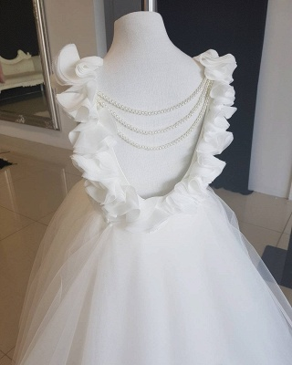 Exquisite Tulle Ball Gown Flower Girl Dresses | Scoop Juliet Flowers Girls Pageant Dresses_6