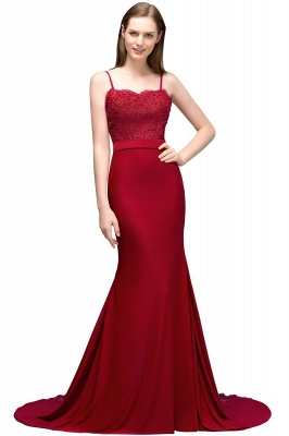 Spaghetti Strap Mermaid Prom Dresses | Sleeveless Evening Gown_2