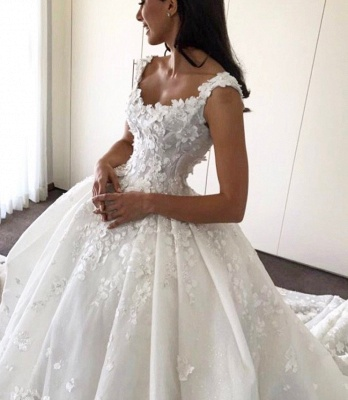 Gorgeous Ball Gown Wedding Dresses | Straps Floral Princess Bridal Gowns_3