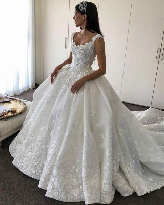 Gorgeous Ball Gown Wedding Dresses | Straps Floral Princess Bridal Gowns_4