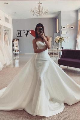 Strapless Sweetheart Stiff Detachable Overskirt Wedding Dresses_1
