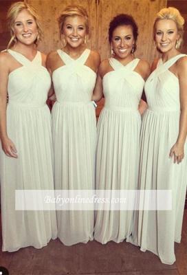 Elegant Sleeveless A-line Chiffon Cross Bridesmaid Dress_1