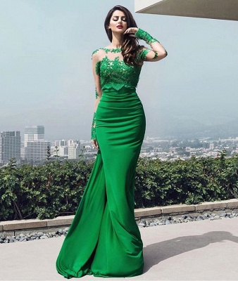 chic Elegant prom dresses lace long prom dresses_4