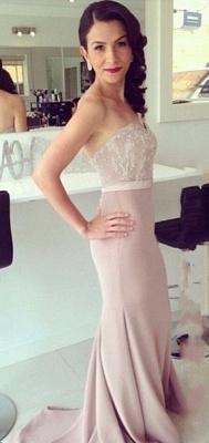 Beads Lace Mermaid Elegant Sweetheart Prom Dress_4