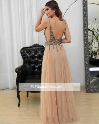 Floor-length Sexy Straps Spaghetti Long Prom Dresses_4