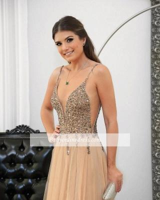 Floor-length Sexy Straps Spaghetti Long Prom Dresses_3