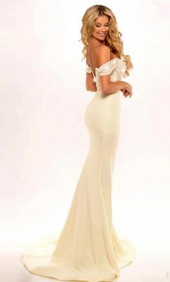 Off the Shoulder Bridesmaid Dresses Sequins Top Sexy Wedding Guest Dress_4
