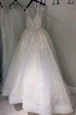 Sheer Sleeveless A-line Wedding Dresses | Open-Back Bridal White Wedding Dresses_3