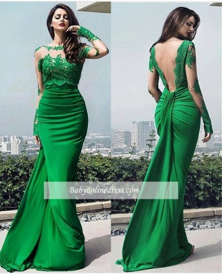 chic Elegant prom dresses lace long prom dresses_1