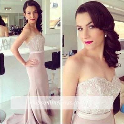 Beads Lace Mermaid Elegant Sweetheart Prom Dress_1